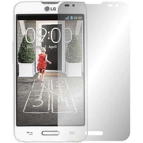 2 x Slabo protector de pantalla LG L70 lámina protectora de pantalla lámina protectora