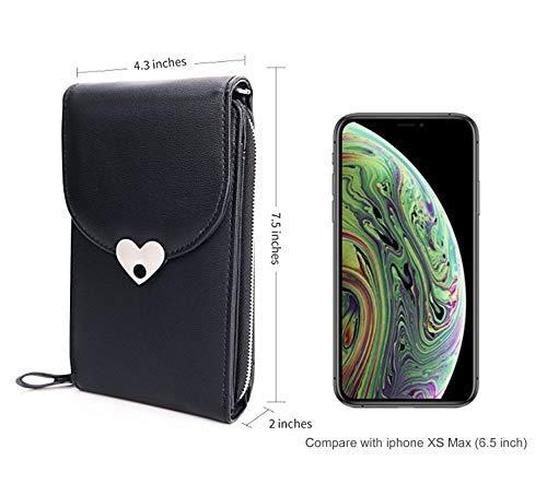 41hvsJVNwFL - Bandolera para Mujer,Bolso de Hombro Cuero pequeño Bolso De Mano Crossbody Bag con Correa para el Hombro Cartera Niñas para Casual Moda Bolso de Viaje Teléfono móvil iPhone Samsung Huawei