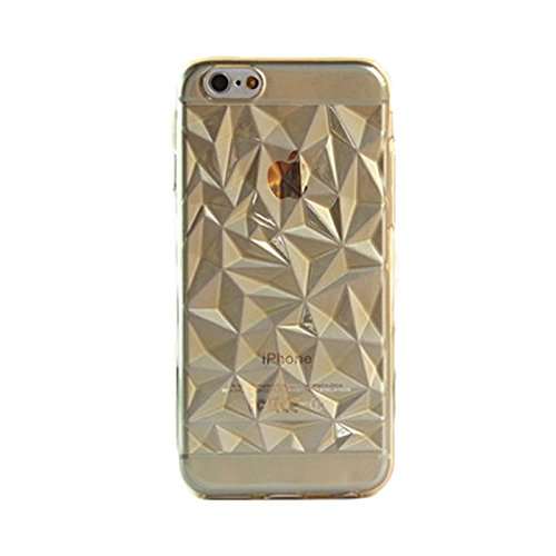 TPU Silikon Cover Diamant Smartphone Hülle Case Bumper Samsung Galaxy iPhone, Farben:Gold;Für Handy Modell:Samsung Galaxy S4 i9500 Gold