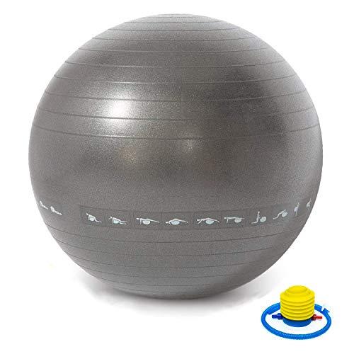 TechFit Unisex– Erwachsene TC97447 Gymnastikbälle grau, One Size