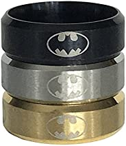 2 Pack Stainless Steel Batman Ring