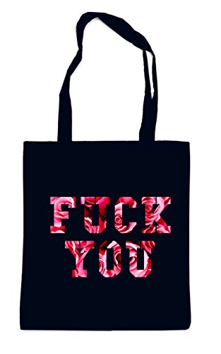 Fuck You Roses Bag Black -