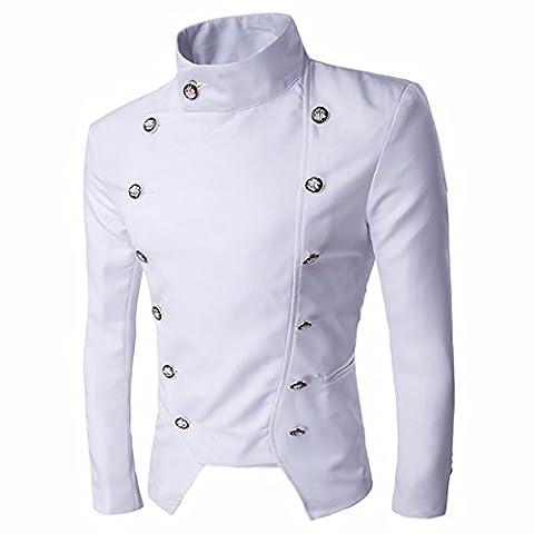 QIYUN.Z Herren Anzug Jacke Stand Kragen kurzen Mantel Blazer