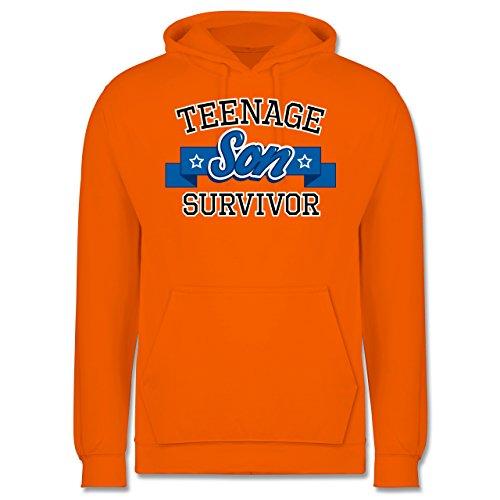 Vatertag - Teenage Son Survivor - Männer Premium Kapuzenpullover / Hoodie Orange