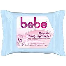 bebe 5in1 Pflegende Reinigungstücher / Abschminktücher für empfindliche & trockene Haut / 1 x 25 Stück