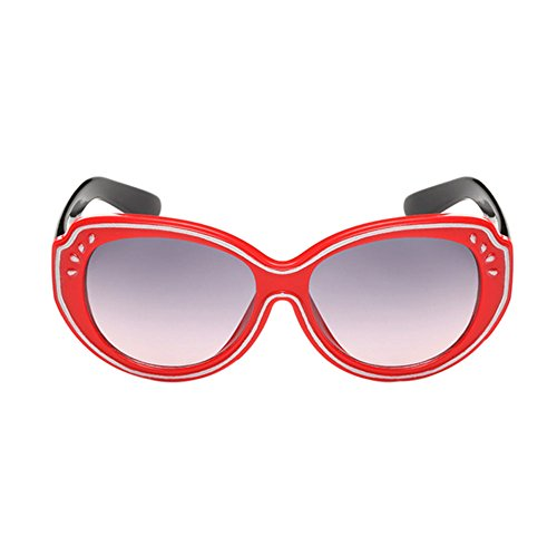 Haodasi Garçons et filles de lunettes de soleil de mode UV400 red/black