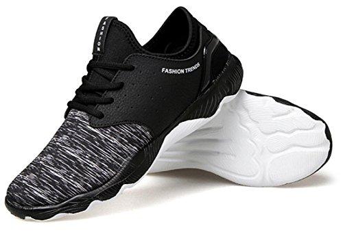 NSPX I nuovi pattini di pallacanestro di calza i pattini di sport di formato maschio / grande i pattini correnti delle scarpe da corsa delle coppie del merletto di modo , 42 BLACK-43