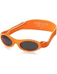 Pro Acme Einteiliges Design Randlose Sonnenbrille Ultra kühn bunter Mono-Block (Orange, 58)