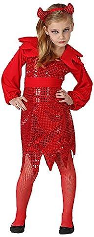Atosa - 22732 - Costume - Déguisement De Demonia Disco - Fille - T-4