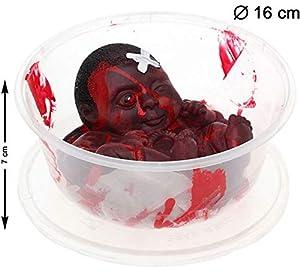 Atosa 39776 Decoración Halloween Unisex - Adulto, Rojo, 16 x 7 cm