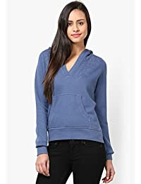 GRAIN Blue Color Regular fit Cotton Autumn Jackets for Women