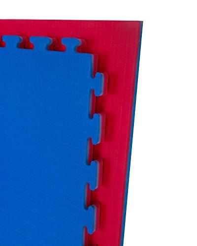 Cannons ist Tatami blau und rot Standard Puzzle 1m x 1m x 2cm, 5 x m2