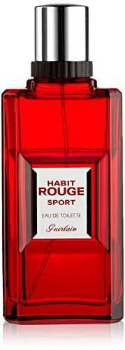 GUERLAIN Habit Rouge Sport Eau De Toilette Spray for Men, 3.4 Ounce