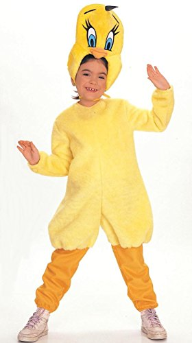 Kostüme Bunny Bugs (Looney Tunes Tweety Deluxe Kostüm Kinder Vogel Bugs Bunny Sylvester Gr. T - M,)