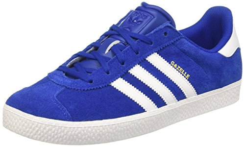 adidas Unisex-Kinder Gazelle 2 J Low-Top Blau (Collegiate Royal FTWR White), 38 2/3 EU