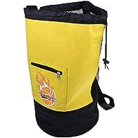 P Prettyia 1 Pc de Mochila de Almacenamiento de Balón de Fútbol Voleibol Bolsa Portadora de Baloncesto - Amarillo