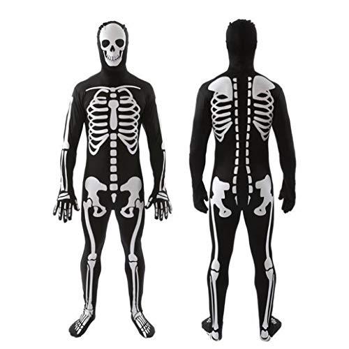Z&X Frauen Halloween Knochen-A-Fied Babe Skelett Jumpsuit Kostüm/Halloween Kostüm Familie Papa, Mama, Kind/Halloween Ghost - Big Cat Ghost Kostüm