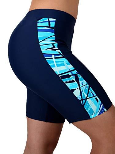 Ultrastar Damen Richtung Xtra Life Lycra Swim Shorts Hose Jammer, Mädchen Damen, Marineblau/Blaugrün, Small