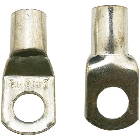 Chuzhao Wu latón resistente engarzado Terminal engarzar terminales de anillo (SC 70-12) para batería Cable orejetas agujero (5