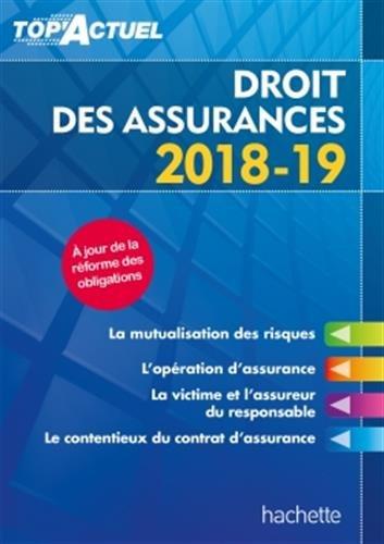 Top'Actuel Droit des assurances 2018-2019 par Jean-François Carlot