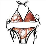 Marine Life Octopus Sexy Women Beach Swimwear Two Pieces Bathing Suit Bikini Top
