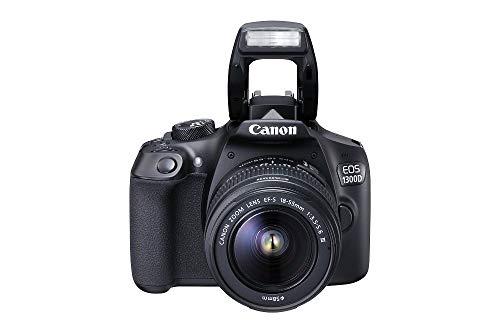 Canon eos 1300d kit fotocamera reflex digitale da 18 megapixel con obiettivo ef-s dc iii 18-55 mm, wi-fi, nfc, nero/antracite (ricondizionato)