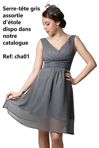 ROBLORA, châle en mousseline, étole, écharpe pour robe de soirée, de différentes couleurs, taille 35 x 170 cm Gris foncée