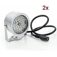 Sonline 2pz 48 LED illuminatore CCTV luce IR a raggi infrarossi visione notturna lampada per la macchina fotografica di sicurezza