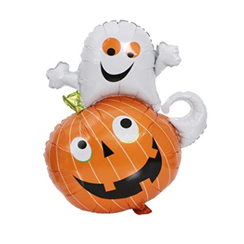 Bigsweety Halloween Party Dekorieren Kürbis Ghost Black Spider Aluminium Film Ballons (Farbe 2)