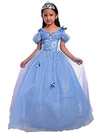 7ca8011461597 Zerlar Butterfly Girls Princess Dress Children Party Costumes
