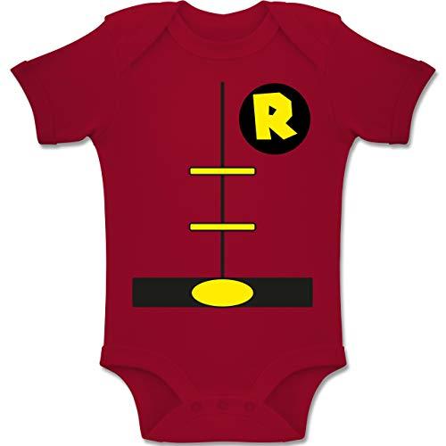 Shirtracer Karneval und Fasching Baby - Superheld Kostüm Kind - 1-3 Monate - Rot - BZ10 - Baby Body Kurzarm Jungen Mädchen