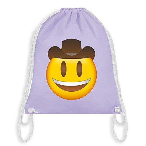 Comic Shirts - Emoji Cowboy-Hut - Unisize - Pastell Lila - WM110 - Turnbeutel & Gym Bag