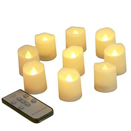 Marvelous Homemory Battery Tea Light With Timer And Remote, Pack Of 9, 1.75 X 1.6