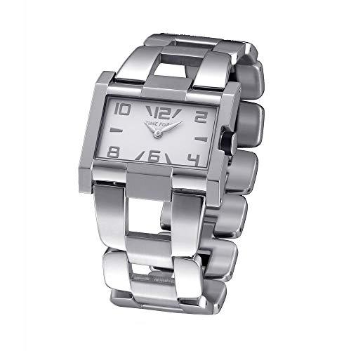 Time Force Reloj Analógico para Mujer de Cuarzo con Correa en Acero Inoxidable TF4033L02M