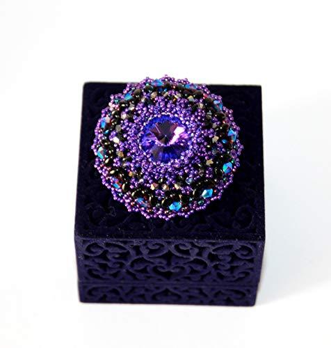 Exklusive Brosche, Trendige Brosche, Swarovski Crystalen, Perlenstickerei, Einzigartiger Schmuck,Modeschmuck, Handmade