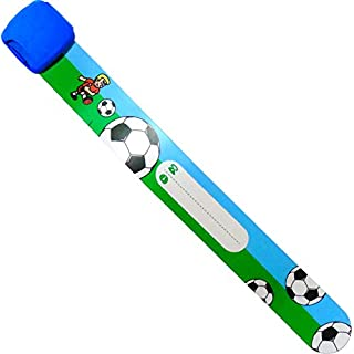 EDZ KIDZ Kinder-Sicherheits-Armband zum Beschriften (Blau Fußball)