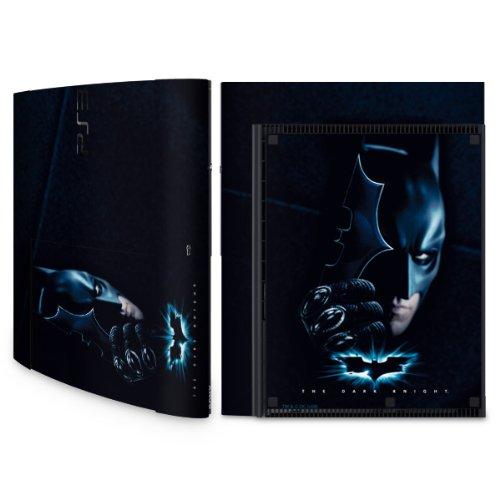 Designfolie Skin Sticker für Sony Playstation 3 Super Slim bzw. PS3 super slim - Batman - Dark Knight (Lieferumfang = Skin für Ober- und Unterseite)
