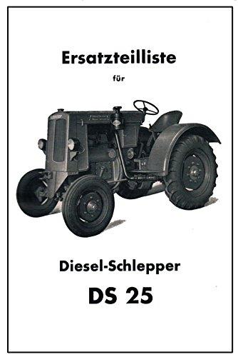Schlüter Dieselschlepper DS 25   Ersatzteilliste