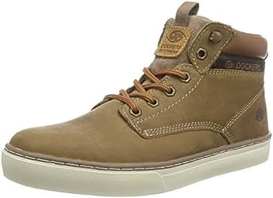 Dockers by Gerli 33ec010-400420, Sneakers Hautes Homme - Marron (stone 420), 46 EU