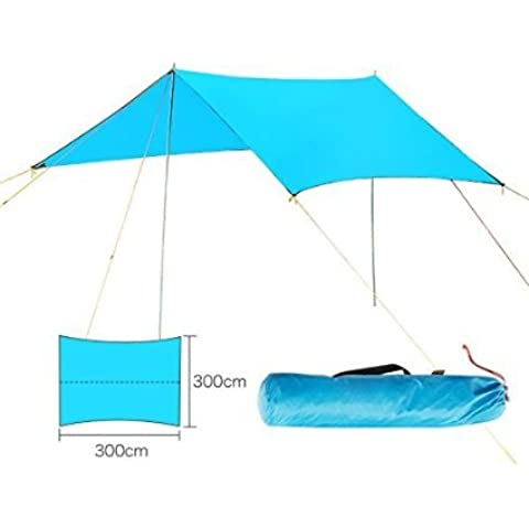 Forfar Carpa refugio lluvia parasol camping Lona impermeable al aire libre 3*3M
