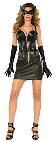 Kostüm Adult Catwoman Deluxe - Women's Deluxe Catwoman Corset Fancy dress costume Large