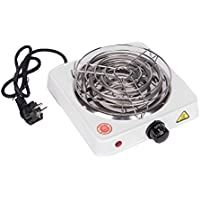 MERITON 1000W Eléctrico Shisha Grill Carbón Ignitor Quemador de carbón Quemador de placa caliente con escudo con rejilla protectora para Hookah Carbón Coconut Charcoal (Blamco)