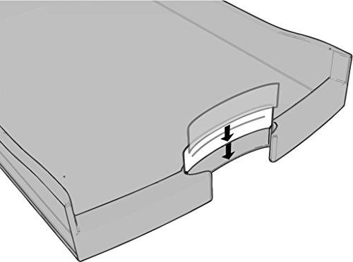 HAN Impuls Schreibtisch-Schubladenbox (stapelbare Sortierablage mit 4 großen Schubladen, für DIN A4/C4, inkl. Beschriftungsschilder, 29,4 x 36,8 x 23,5 cm (BxTxH)) lemon/weiß - 3