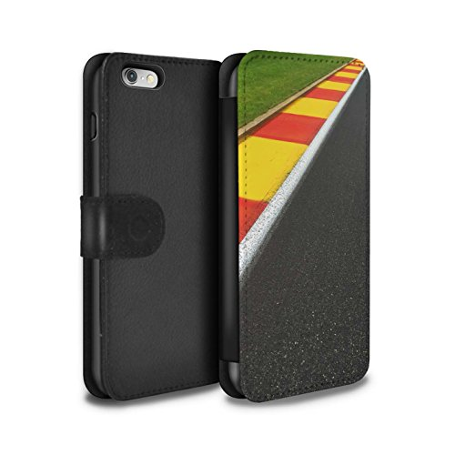 Stuff4 Coque/Etui/Housse Cuir PU Case/Cover pour Apple iPhone 6 / Apex/Chicane Design / Piste Course Photo Collection Apex/Chicane