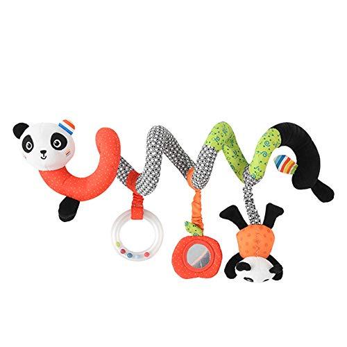 WEISY Kinderwagen hängen Spielzeug für Kleinkinder Kinder Kinderwagen hängen Glocke Krippe Rassel Spielzeug weiche Baby Beißring kauen Spielzeug Jungen und Mädchen