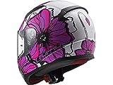 Casco de moto integral LS2 FF353 Rapid Poppies, rosa