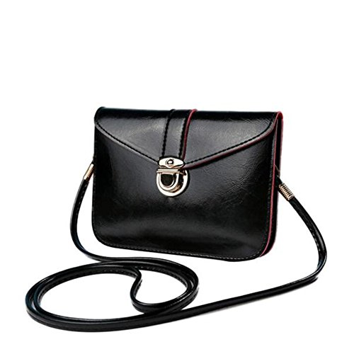 - 41hw68oMHwL - Bluester Fashion Zero Purse Bag Leather Handbag Single Shoulder Messenger Phone Bag