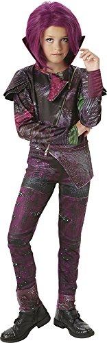 Los Descendientes - Disfraz de Mal Deluxe para niña, 7-8 años (Rubie's 620374-L)