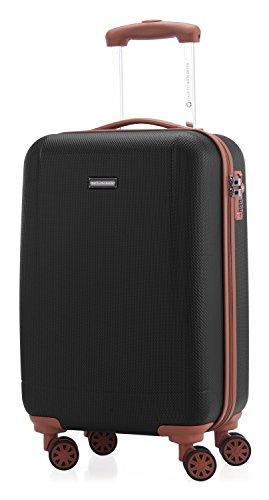 HAUPTSTADTKOFFER - Wannsee - Valigia bagaglio a mano 58 cm, Trolley rigido, legero, ABS, TSA, 37 litri, Nero