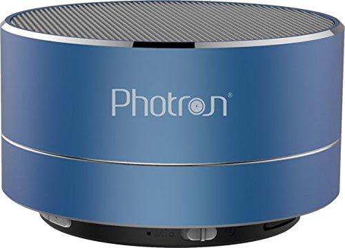Photron P10 Wireless 3W Super Bass Mini Metal Aluminium Alloy Portable Bluetooth Speaker with Mic (Blue)